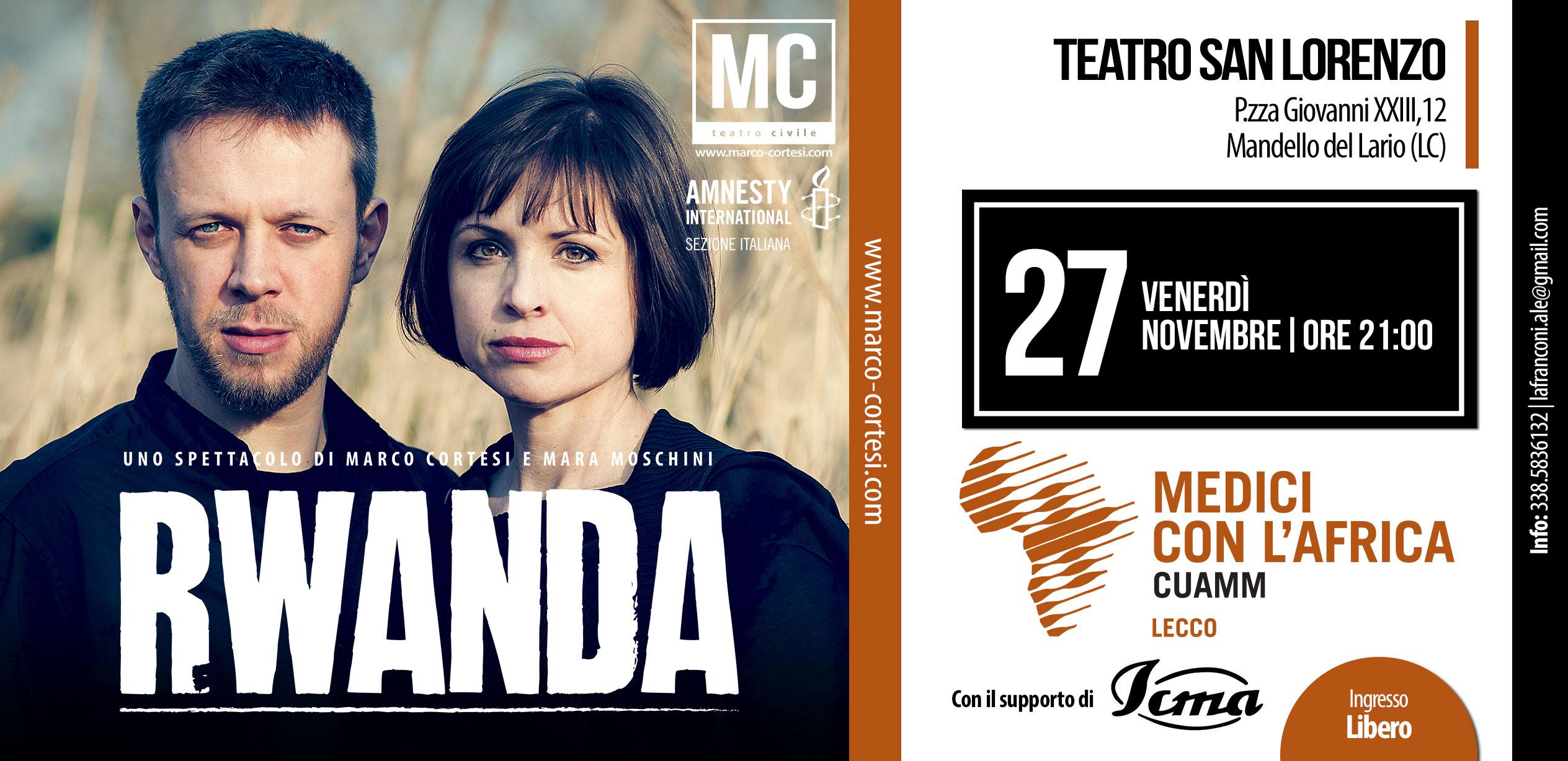 Rwanda Spettacolo Teatrale Lecco