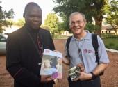 Con il cardinale Dieudonné Nzapalainga